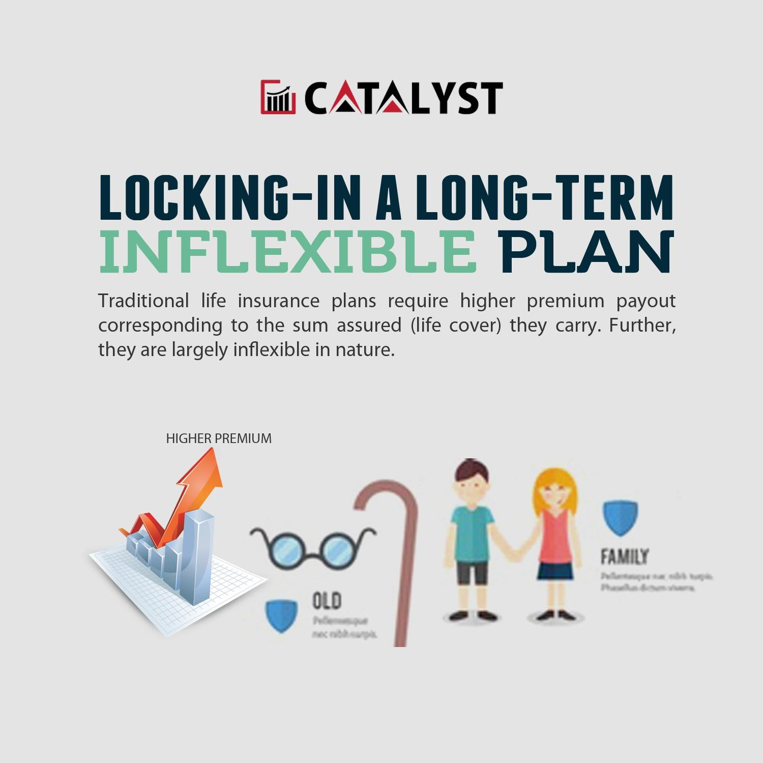 Locking-in a long-term, inflexible plan   Life insurance ...