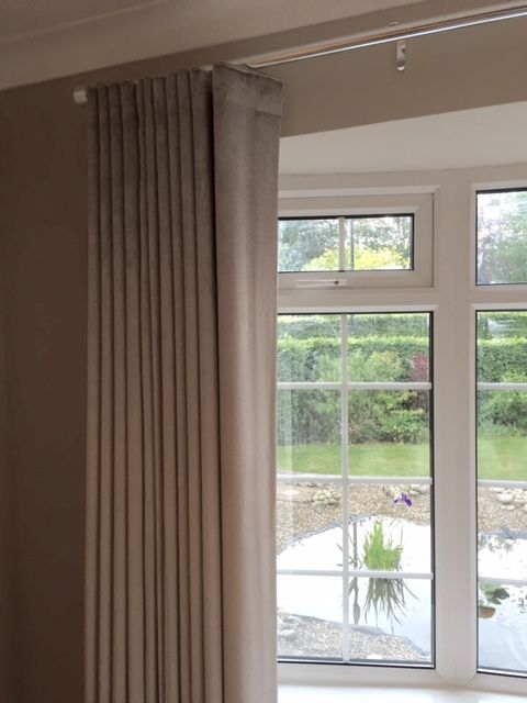 Modern Wave Curtain On A Made To Measure Curtain Pole By Silent