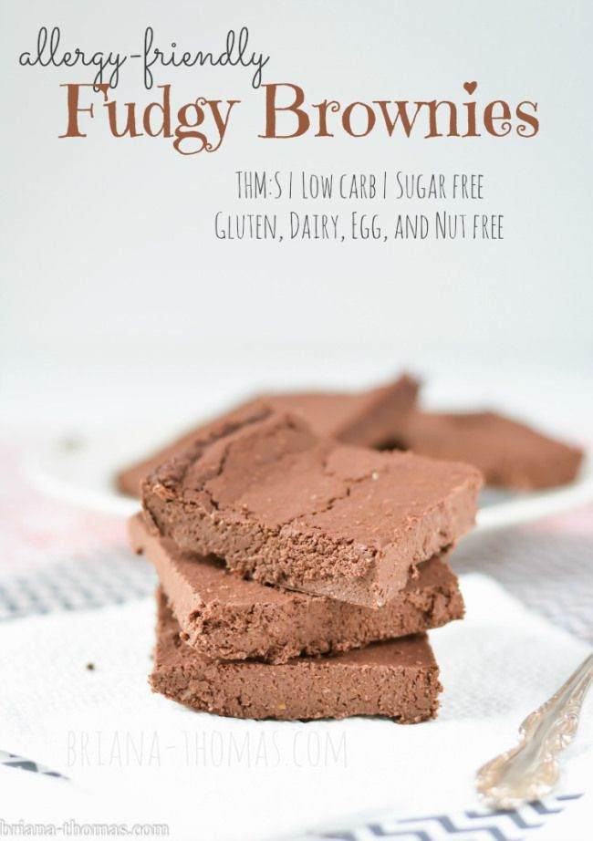 Allergy-Friendly Fudgy Brownies | Briana Thomas (#THMS, Sugar free, and