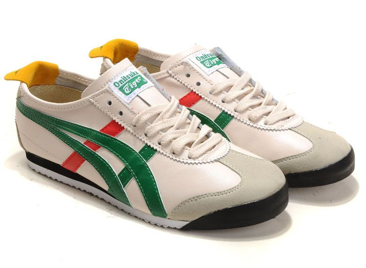 Hot Men s Onitsuka Tiger Mexico 66 Beige Green Red Black  9a9003714