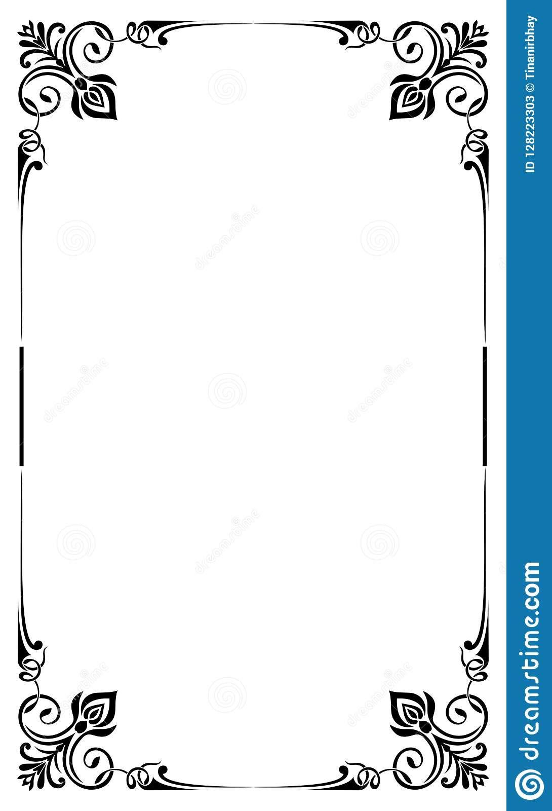The Cool Restaurant Menu Card Frame Template Stock Vector For Blank Restaurant Menu Template Pics Belo Restaurant Menu Card Restaurant Menu Template Menu Cards