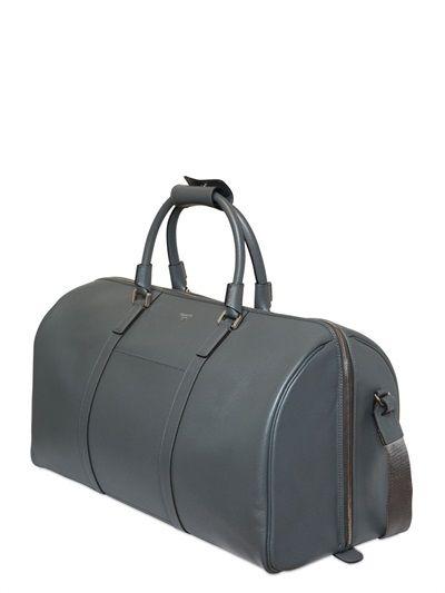 f85afef049e7b SERAPIAN - SAFFIANO LEATHER DUFFLE BAG | Men bags | Bags, Leather ...