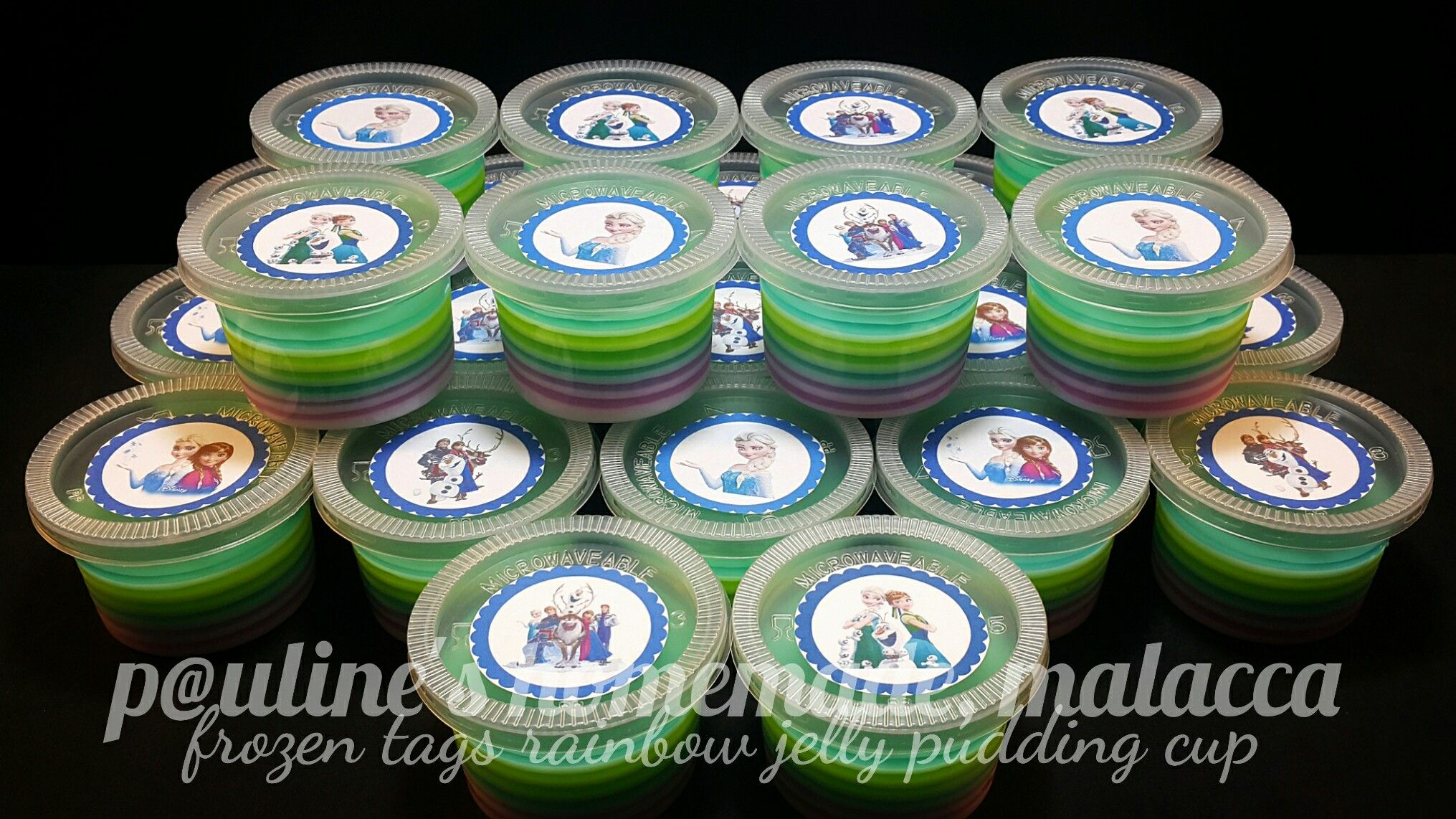 Rainbow Jelly In Pudding Cup - Jelly Cup Egg Push