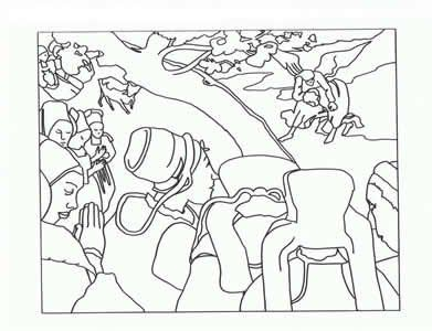 Masterpiece Coloring Page--Free printable-Paul Gauguin