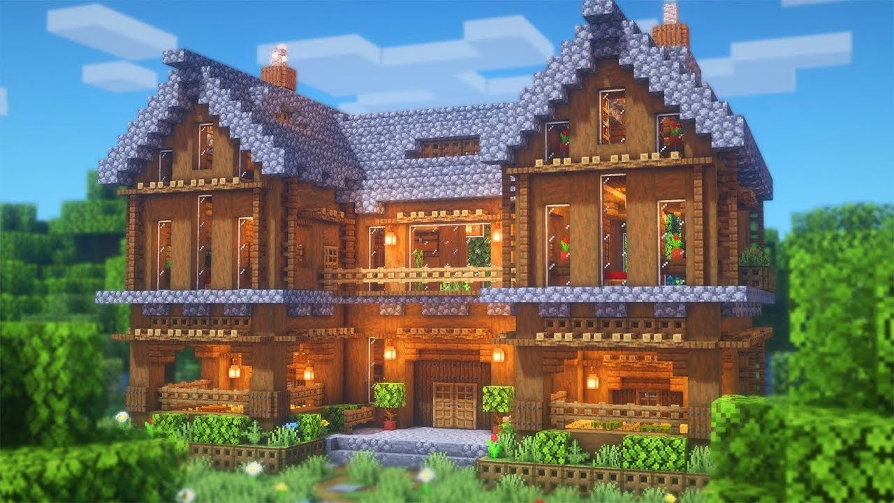 Minecraft How To Build A Large Spruce Mansion Large Survival Base Tutorial Youtube In 2020 Minecraft House Tutorials Minecraft Mansion Cute Minecraft Houses