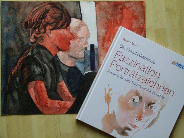 Gegensätzliche Lösungen für das Portrait im Aquarell – Frank Koebsch versus Werner Maier