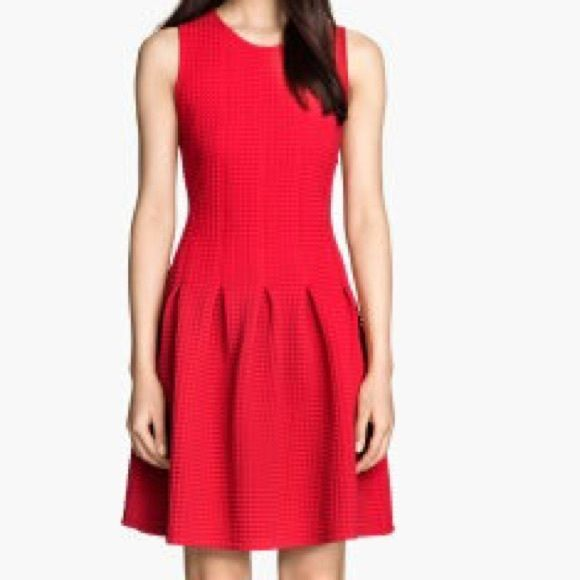 H M Red Casual Dress Size S Pleated Dress Dresses Fashion