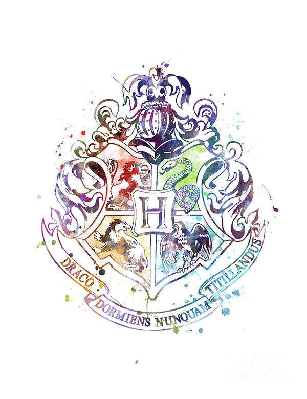 Hogwartscrest Print Harrypotter Homedecor Art Hogwartshouse Artforsale Illustrati Harry Potter Watercolor Harry Potter Drawings Harry Potter Background