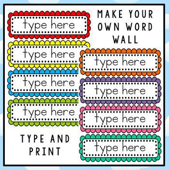 Free editable word wall template teaching pinterest for Free printable word wall templates