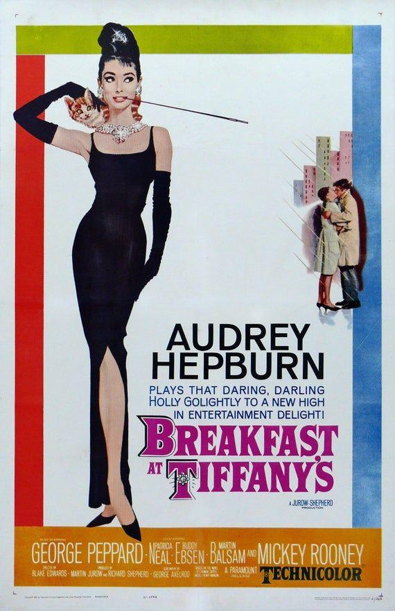 Vintage Movie Art Poster - Breakfast At Tiffany's 0137
