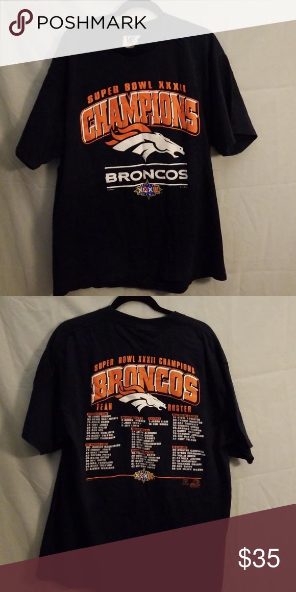 Denver Broncos super bowl shirt