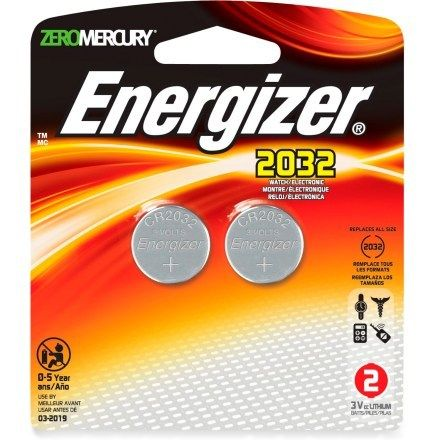 Energizer CR2032 3V Coin Cell Lithium Batteries - Package of 2 ...