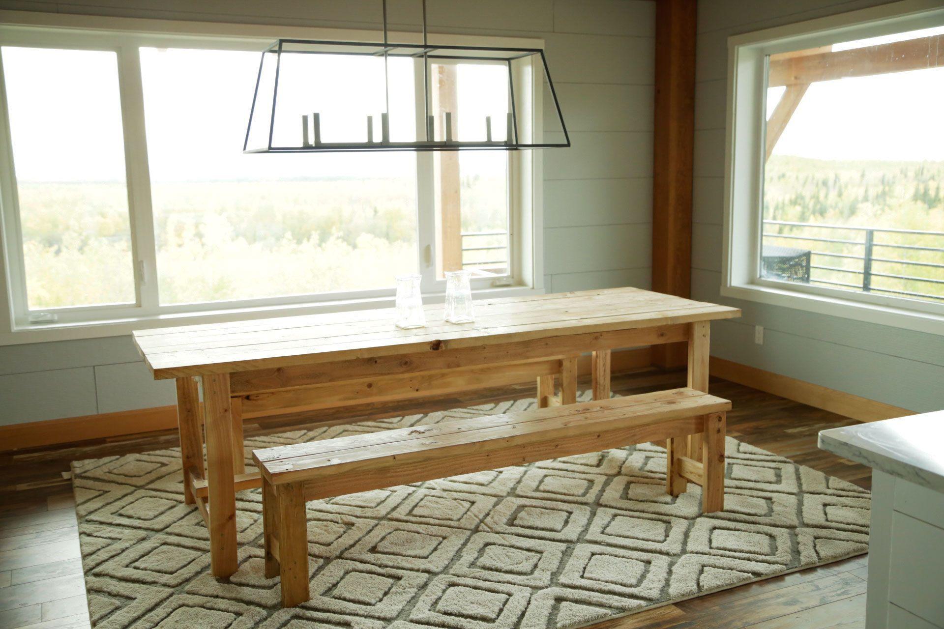 Long kitchen tables  Ana White  Beginner Farm Table  Tools   Lumber  DIY