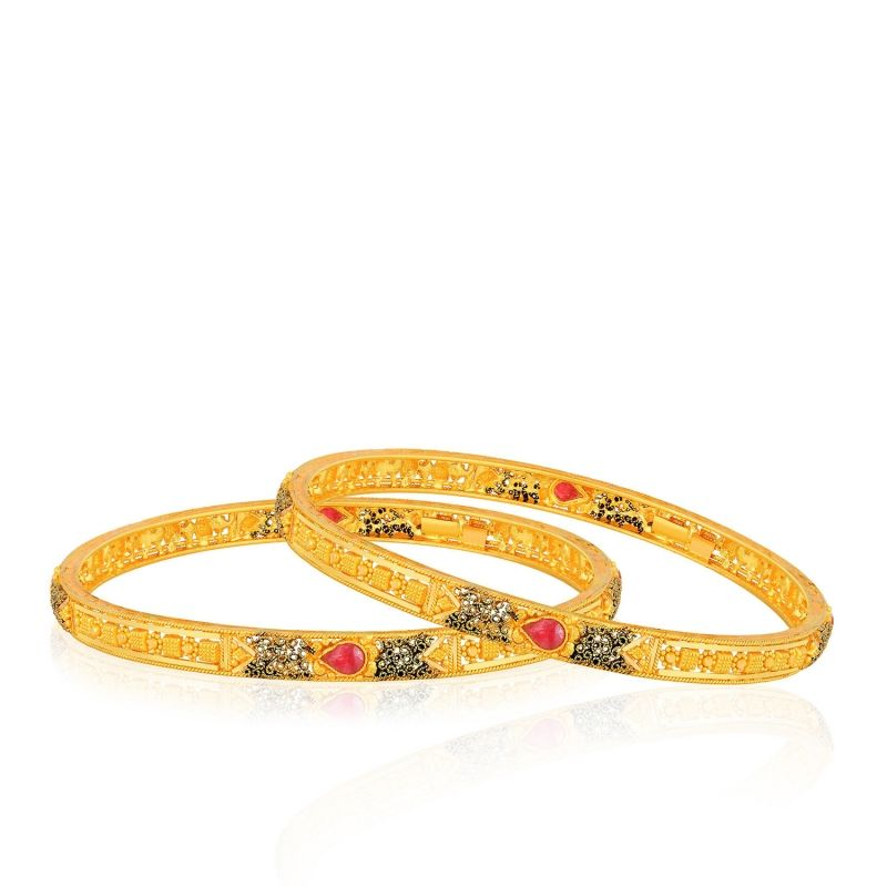 Malabar Gold Bangle Set ANDAGZOGZR | gold bangles | Pinterest ...