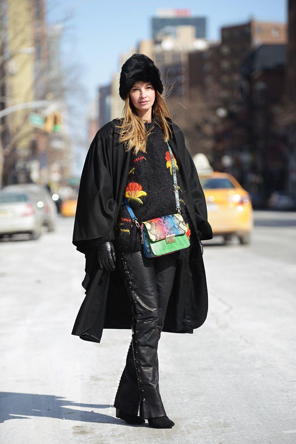 #ClaraRasz getting into the cape caper in NYC.
