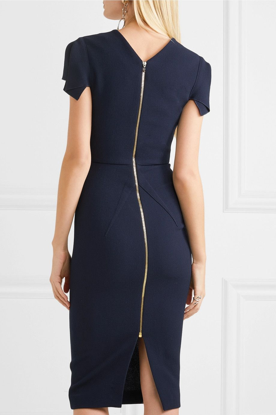 Outlet Looking For Discount Purchase Royston Wool-crepe Midi Dress - Navy Roland Mouret Enjoy For Sale Free Shipping Cheap Quality Online Cheapest VkyUOZJ