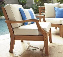 Hampstead Painted Armchair   White | Pottery Barn. Outdoor ChairsPool ...