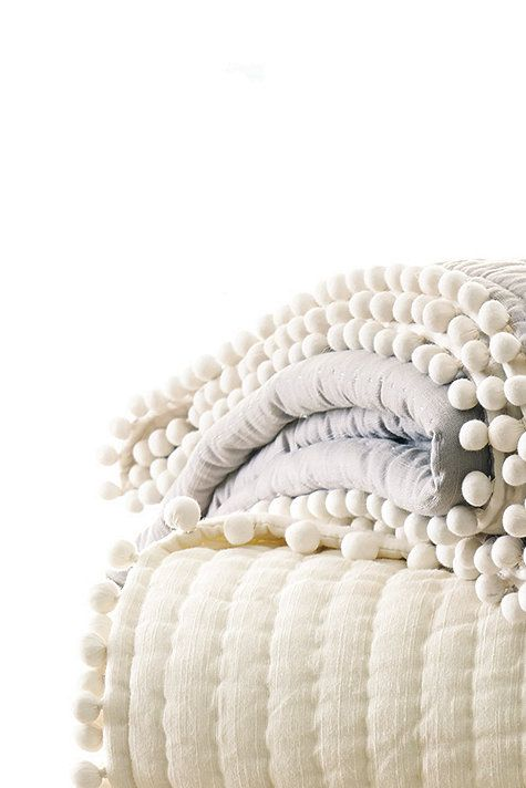 Audree Pom Pom Quilted Bedding