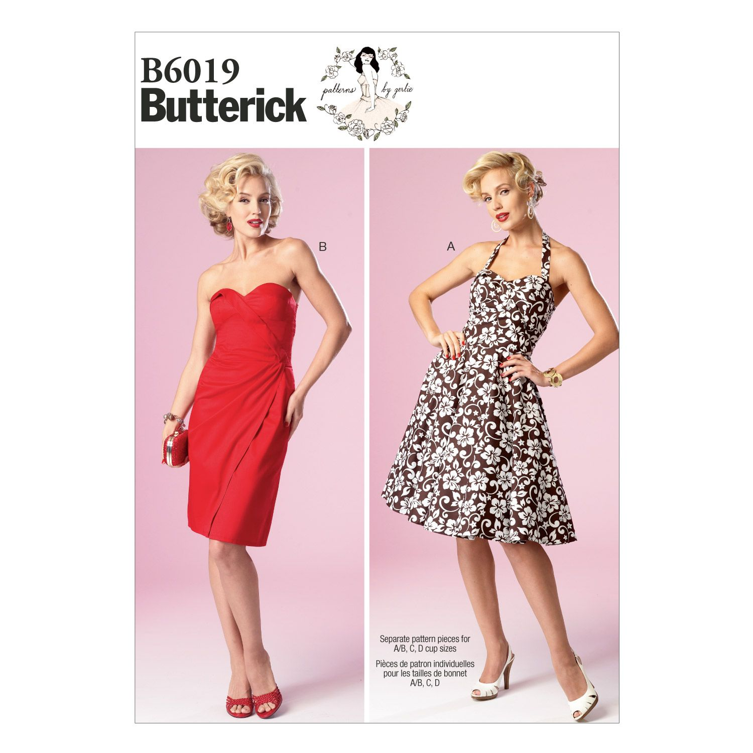 Butterick Misses Dress-B6019   Sewing Patterns by Nicole Stephen ...