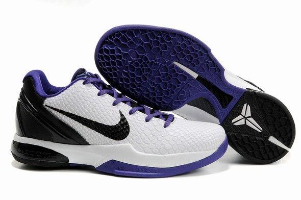 Nike Zoom Kobe 6 Inline White Black Varsity Purple