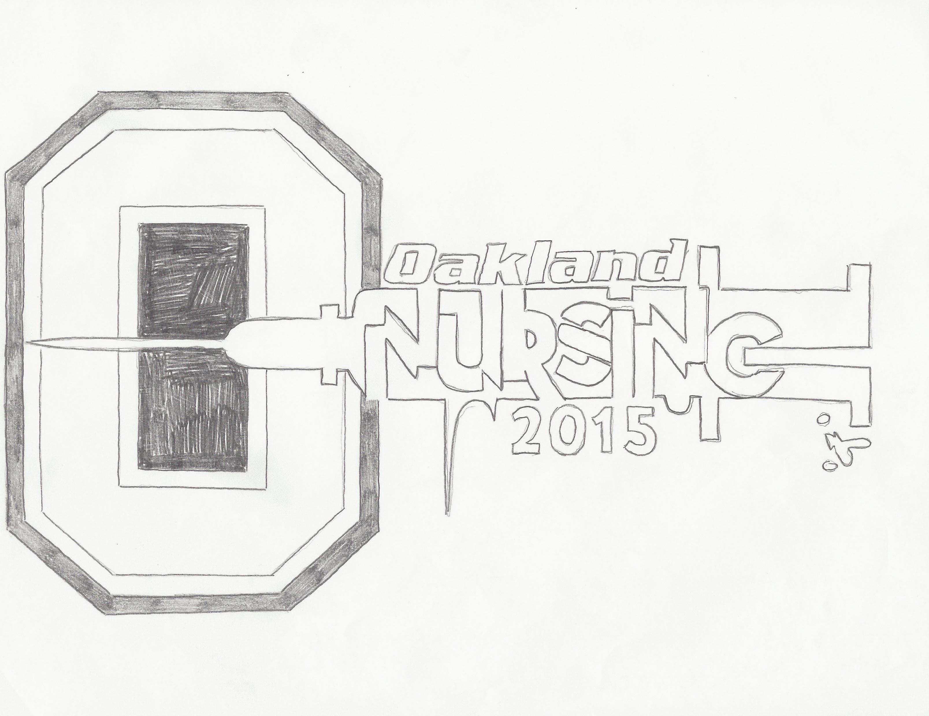 Oakland University Nursing Class of 2015 Logo (IDEA) (With