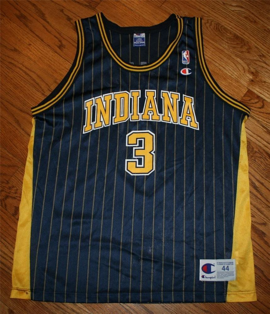 320ef188e Vintage Al Harrington  3 Indiana Pacers NBA Champion pinstripe Jersey-Men  44-NEW