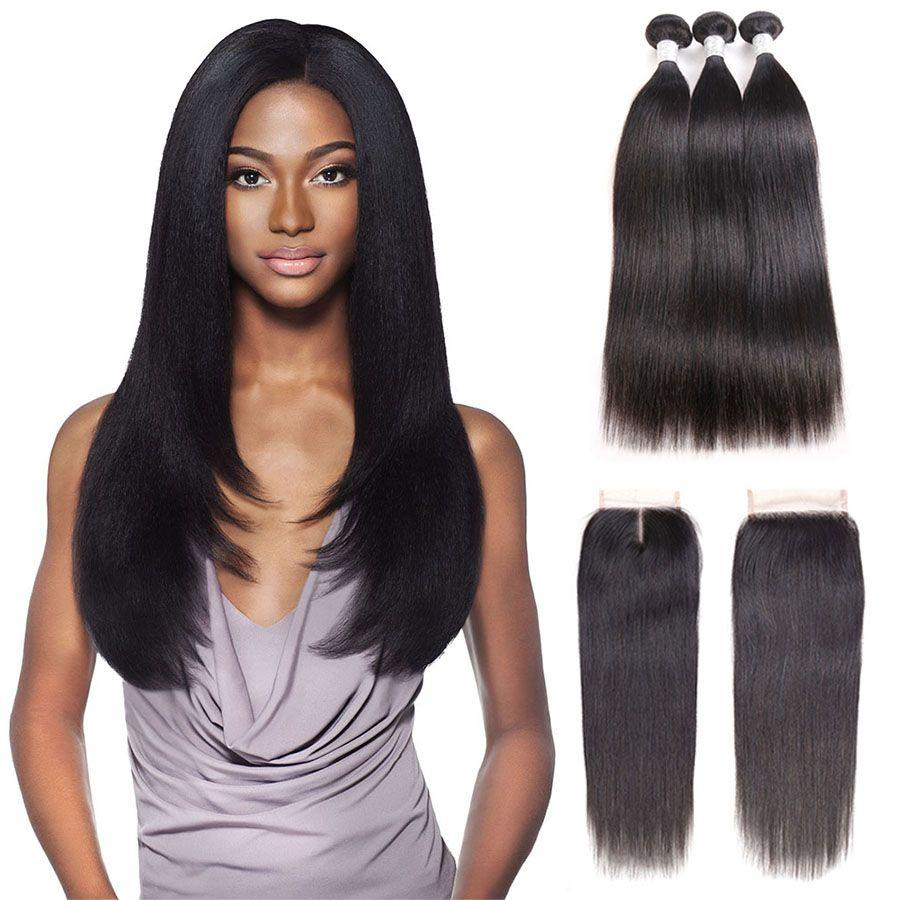 Malaysian Straight Hair 4 Bundles Natural Color 8 28inch 100 Human