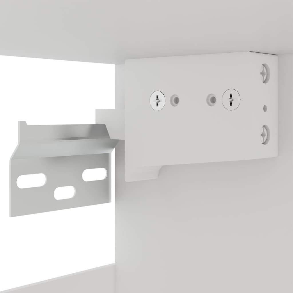 Hanging Glass Cabinet Concrete Grey 40x31x60 cm Chipboard