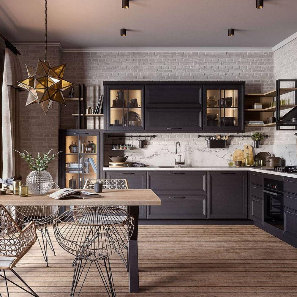 Moderne Loft Kuche Freda Massivholz Industriedesign Winkelkuche L Form Anthrazit In 2020 Haus Kuchen Kuche Landhaus Modern Kuche Loft