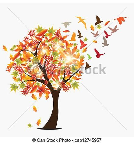 seasonal tree drawings - Google Search   Confetti ...