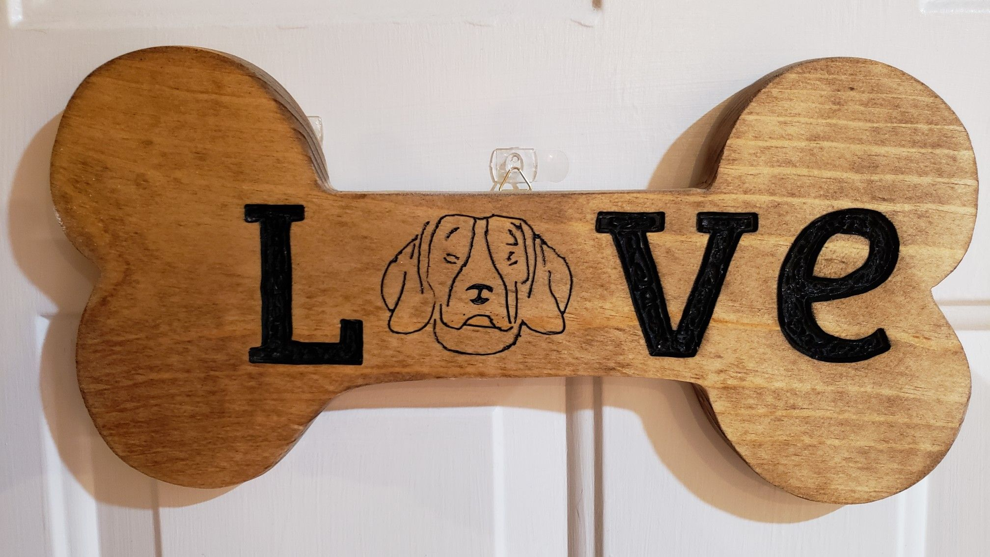 Check Out Our New Hand Made Hand Carved Love Pet Portrait Dog