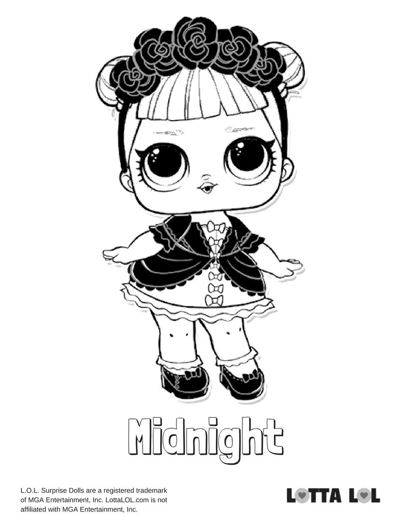 Midnight Coloring Page Lotta Lol Cute Coloring Pages Coloring Pages Cool Coloring Pages
