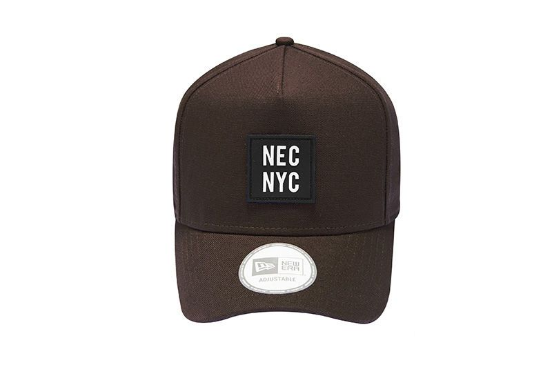 91fde2a69ef8e ... official new era 9forty d frame necnyc rubber logo brown size free hat  a6e4e 6a0c7