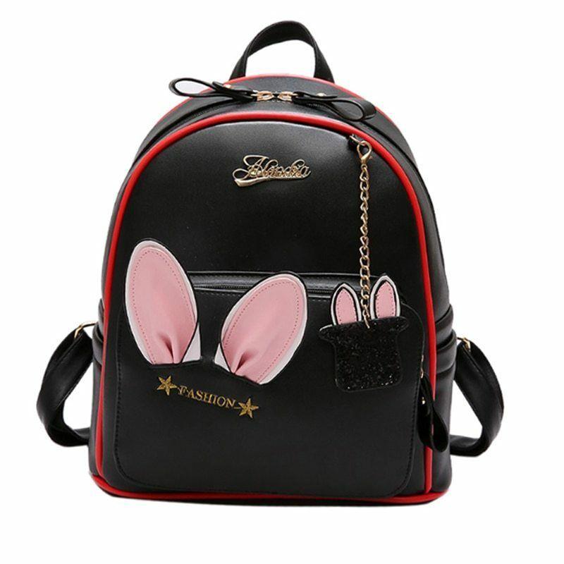 d70bd9e43c9b Fashion Women Rabbit Ears Backpack Glitter Magic Bunny Bag Cute Lovely  Luxury  FashionWomenChina  Backpack
