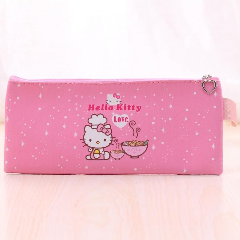 4c9316a404 Cartoon Hello kitty Spiderman pencil case for kids Cute PU Leather owl pen  bag stationery pouch for girls office school supplies