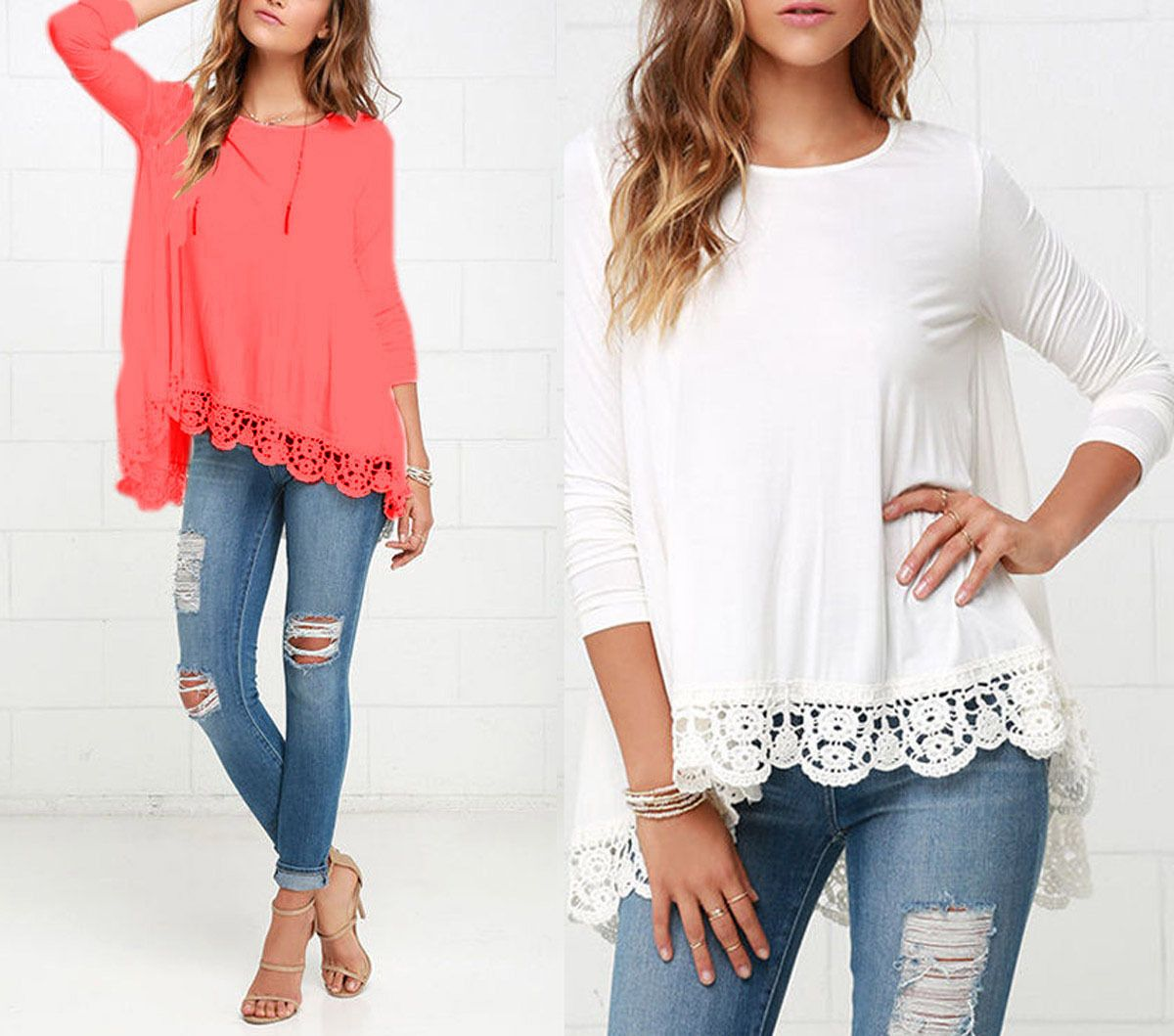 awesome fashion summer womens loose casual long sleeve