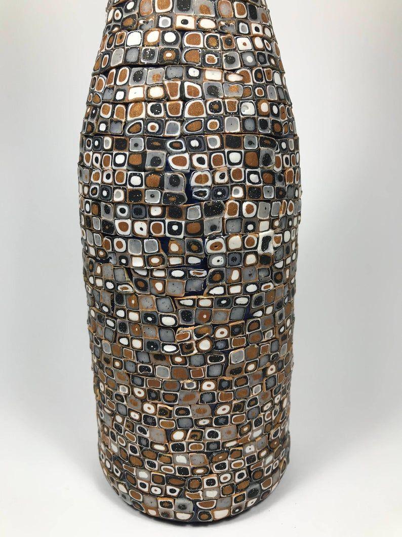 Decorated bottle/Mosaic decorative wine bottle/Vases