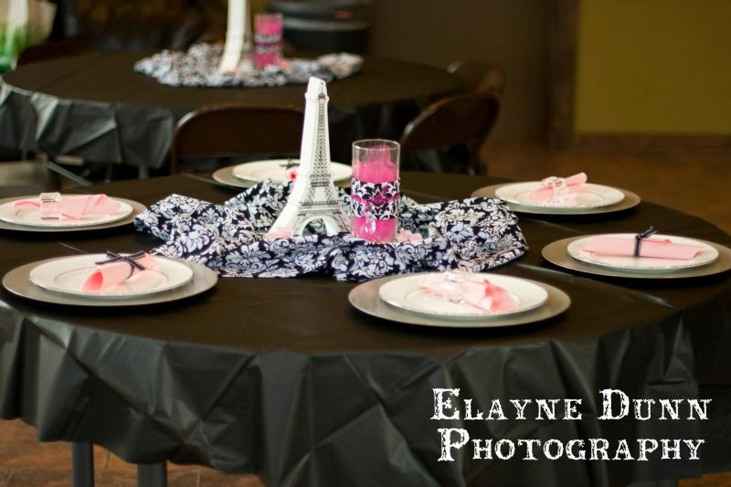 Charming Paris Themed Table Settings Pictures - Best Image Engine ...