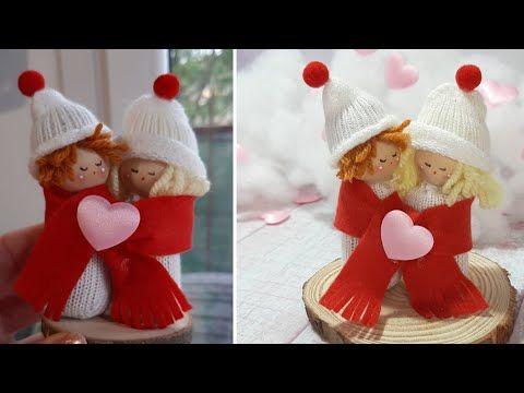 Tutorial per San Valentino con riciclo guanti e tappo di sughero - YouTube