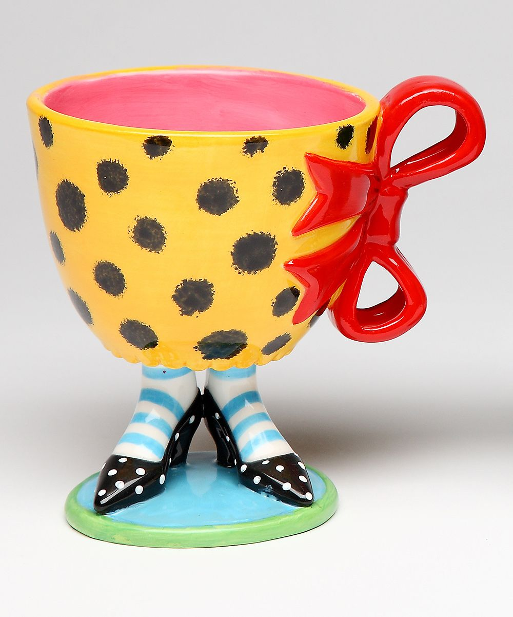 Red & Yellow Leopard Footed Cup