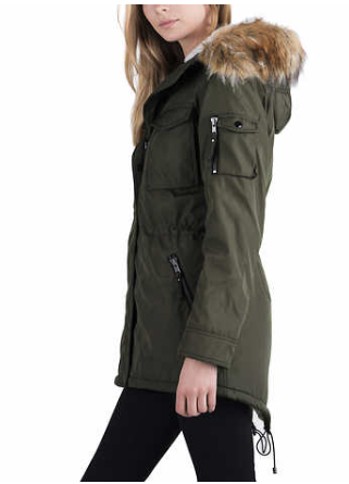 c367a1b48c7 My new winter jacket from Costco! S13 New York Ladies  Sherpa Lined Anorak  Jacket
