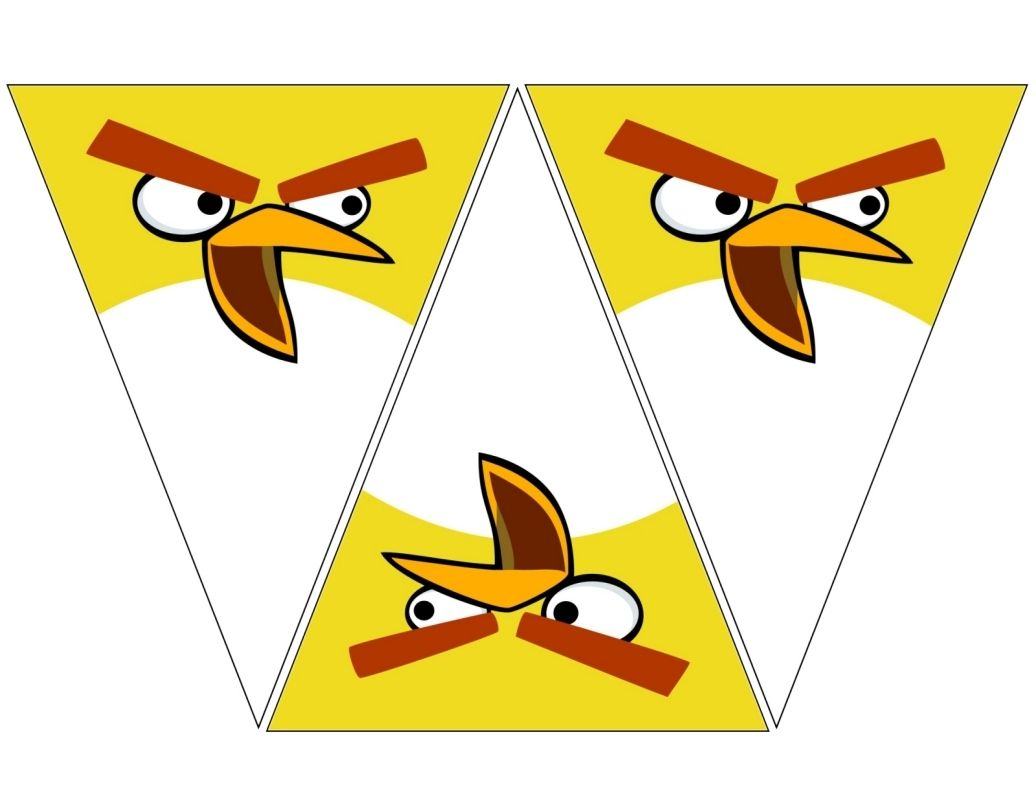 Angry Bird Yellow Banner Free To Use Free To Share