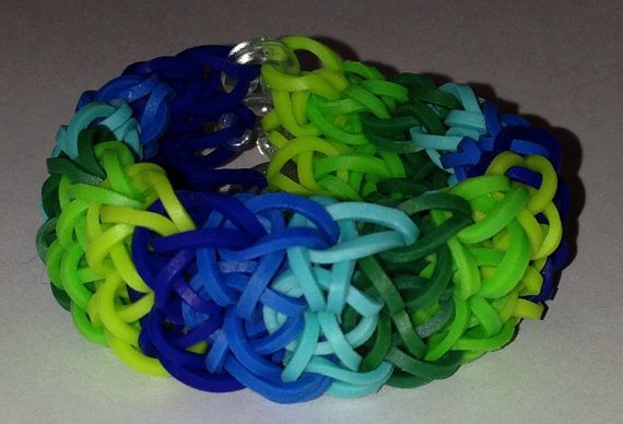 Double Rhombus Rainbow Colors Rainbow Loom Bracelet by ...