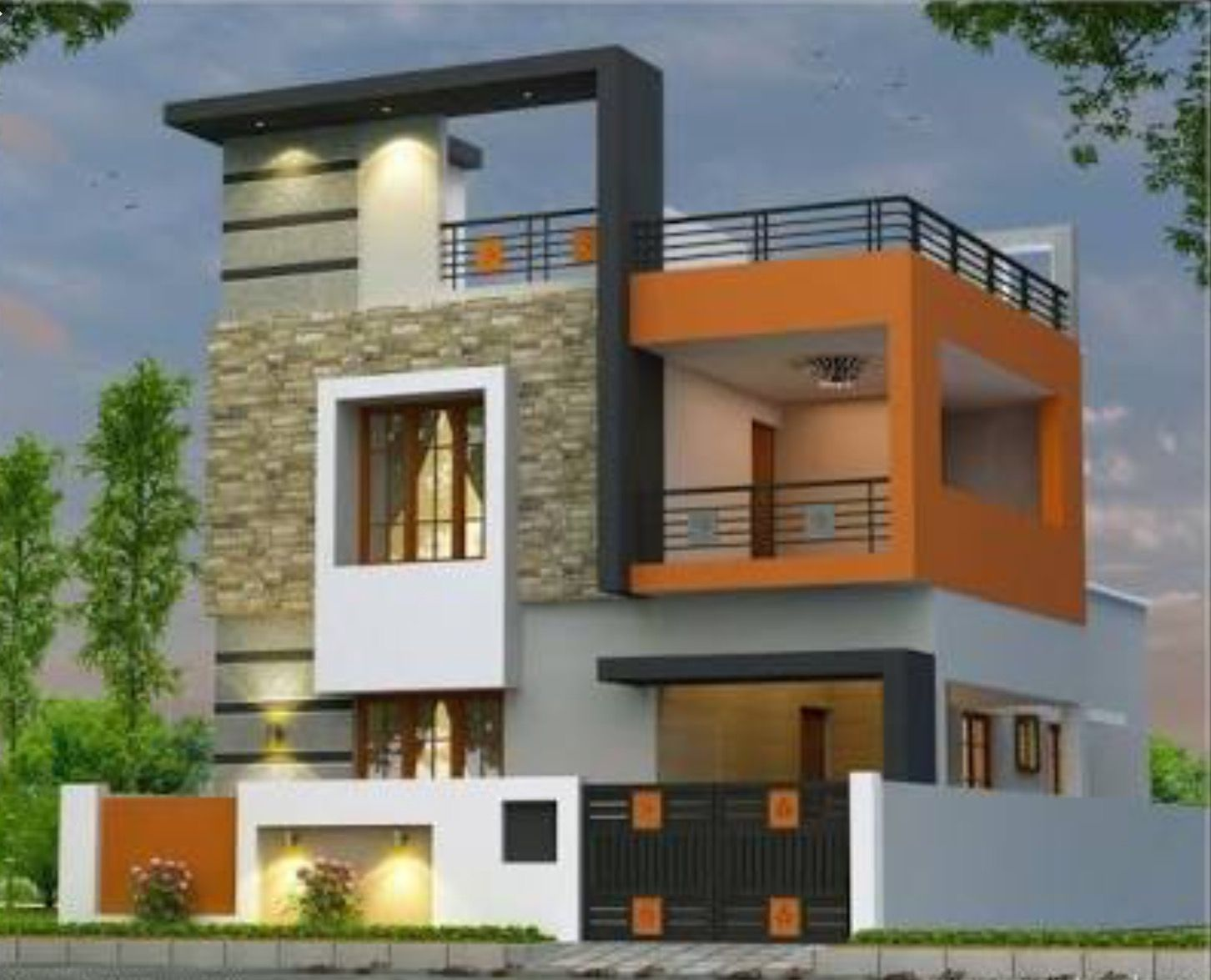 Two Floors House Independent House House Exterior Small House Elevation Design