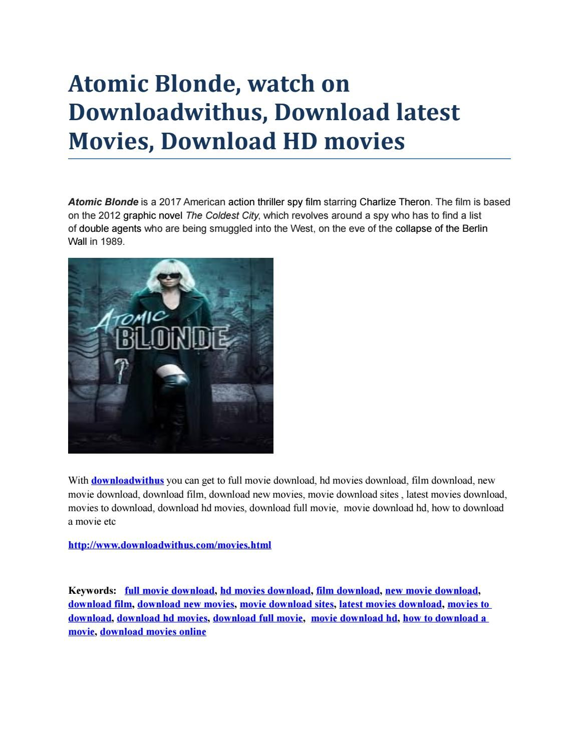 atomic blonde, watch on downloadwithus, download latest movies
