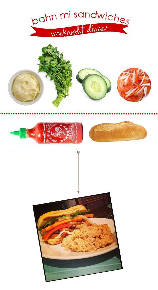 Weeknight Dinner :: Bahn Mi Sandwiches