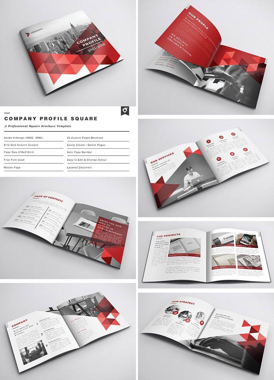 broschüre design layout quadrat in 2020 Indesign