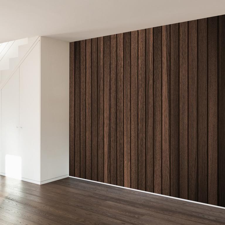 Retro Wood Dark Wall Mural Wallsneedlove Wood Feature Wall Wood Slat Wall Wood Panel Walls