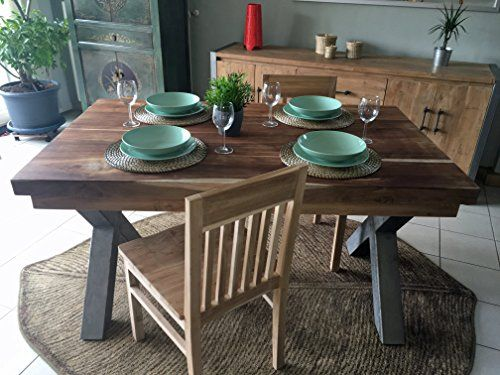 Opium Outlet Dining Room Table Kitchen Table From Indonesia Teak - Indonesian teak dining table