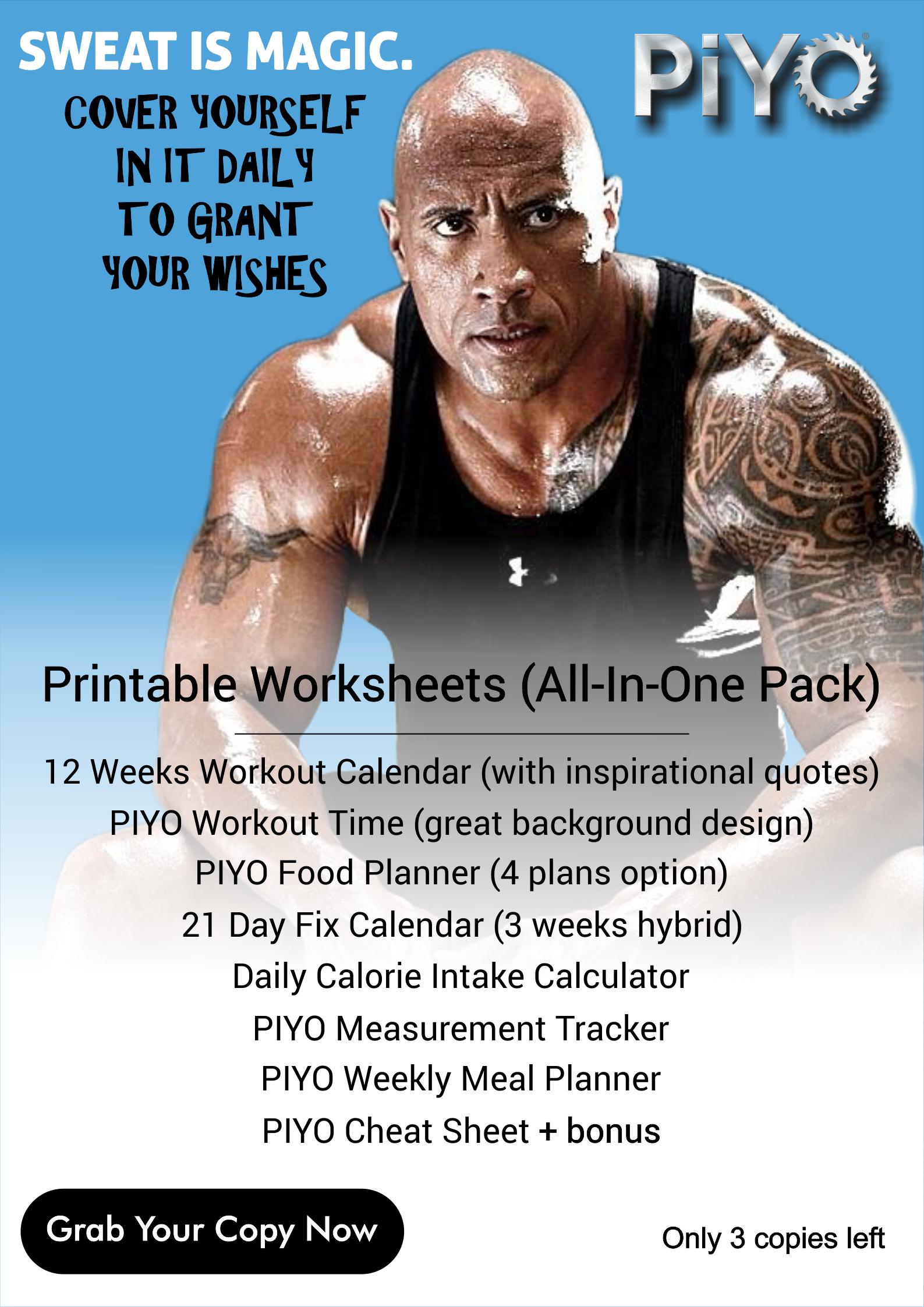 Piyo Workout Schedule
